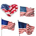 Flag, heart, american Royalty Free Stock Photo
