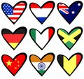 Flag hearts Stock Images