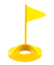 Flag hole plastic golf toy Royalty Free Stock Photo