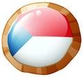 Flag icon design for Czech Republic