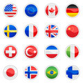 Flag icon set Stock Photo