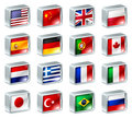 Flag icons buttons Stock Images