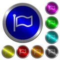 Flag luminous coin-like round color buttons Royalty Free Stock Photo