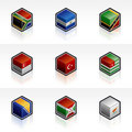 Flag Icons Set - Design Elements 56p Royalty Free Stock Photos