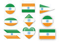 Flag of india for various uses by designers and printers Royalty Free Stock Photos