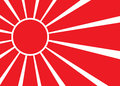 Flag of Japan. Celled stylization japanese national flag. Vector illustration Royalty Free Stock Photo