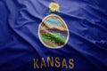 Flag of Kansas state Royalty Free Stock Photo