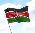 Flag of Kenya Royalty Free Stock Photo
