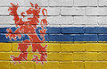 Flag of Limburg on brick wall Stock Photography