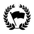Flag location mark icon