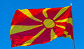 Flag of Macedonia Royalty Free Stock Photo