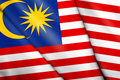 Flag of Malaysia Royalty Free Stock Photography