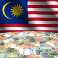 Flag with Malaysian Ringgit Stock Image