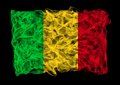 Flag mali consists smoke Royalty Free Stock Photos