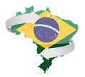 Flag map of Brazil changing ideas concept Stock Photos