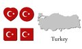 Flag map turkey