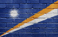 Flag of Marshall Islands on brick wall Royalty Free Stock Image