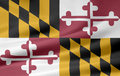 Flag of Maryland Royalty Free Stock Photo