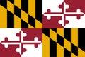 Flag of Maryland Royalty Free Stock Photo