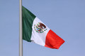 Flag of mexico over blue sky Royalty Free Stock Image