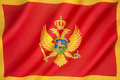 Flag of Montenegro Royalty Free Stock Photo