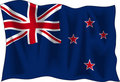 Flag of New Zealand Royalty Free Stock Photo