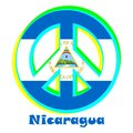 Flag of Nicaragua as a sign of pacifism