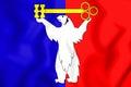 Flag of Norilsk Krasnoyarsk Krai, Russia. 3D Illustration.