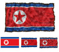 Flag of North Korea Royalty Free Stock Photography