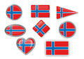 Flag of norway for different use by designers and printers Royalty Free Stock Photography