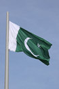 Flag of pakistan over blue sky Stock Photos