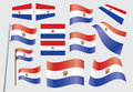 Flag of Paraguay Stock Photos