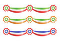 Flag party decoration ribbons Stock Photos