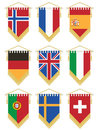 Flag pennants Stock Image