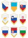 Flag pennants Royalty Free Stock Photos