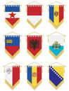 Flag pennants Stock Photos