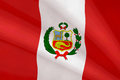 Flag of peru peruvian the national symbol Stock Image