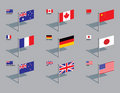 Flag Pins Royalty Free Stock Image