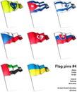 Flag pins 4 Royalty Free Stock Photo