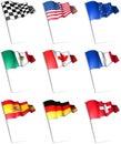 Flag pins Royalty Free Stock Photo