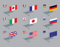Flag Pins - G8 Royalty Free Stock Photos