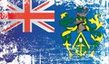 Flag of the Pitcairn Islands, British Overseas Territories. Wrinkled dirty spots.