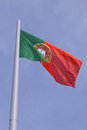 Flag of portugal over blue sky Stock Image