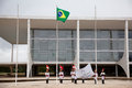 Flag raising ceremony brasilia image of a in the capital of brazil Stock Photography