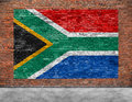 Flag of republic of south africa and foreground part Royalty Free Stock Images