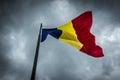 Flag of romania romanian national in citadel alba iulia city in Stock Image