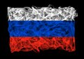 Flag russia consists smoke Royalty Free Stock Image