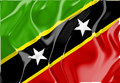 Flag of Saint Kitts and Nevis St. Royalty Free Stock Images