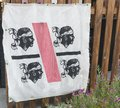 The flag of sardinia with the four moron heads Royalty Free Stock Photo