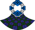 Flag of scotland in celtic ring Royalty Free Stock Photo